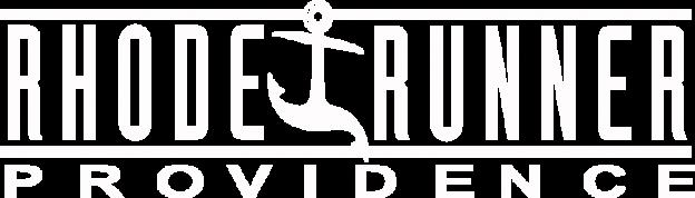 Text: Rhode Runner Providence Logo: Anchor that looks like it is running.